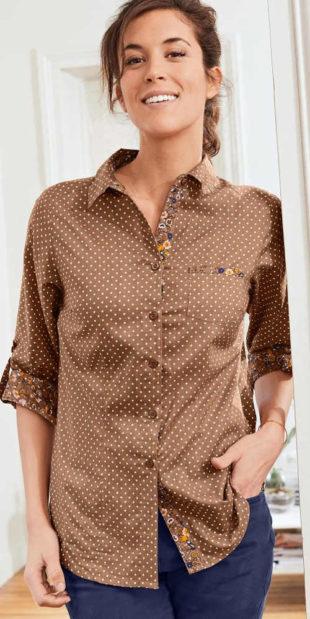 Dámská košile s drobným puntíkem