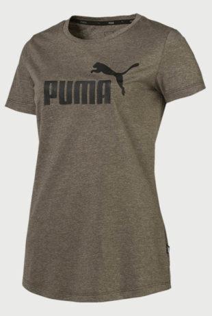 Dámské khaki tričko s krátkým rukávem Puma
