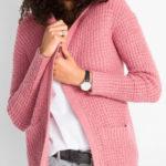 Pletený svetrový kabátek s kapucí