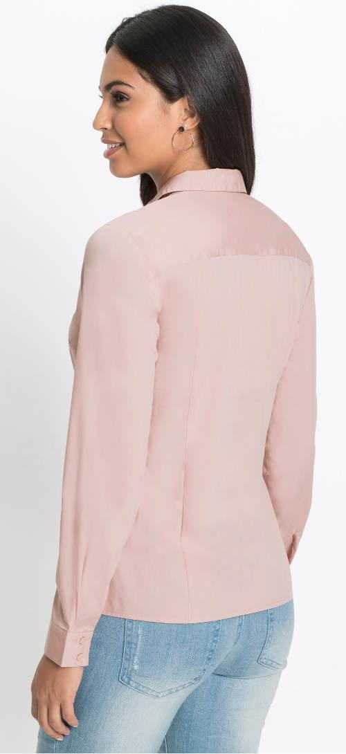 Růžová sváteční dámská košile