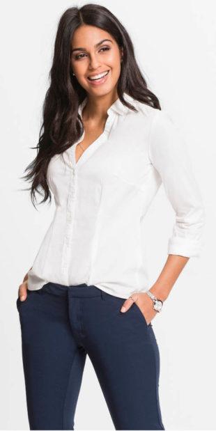 Strečová dámská košilová halenka