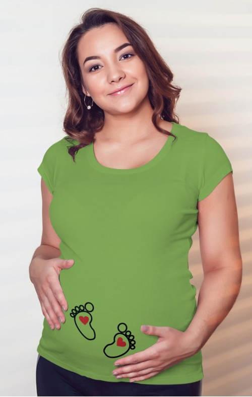 Těhotenské dámské tričko s nožičkama