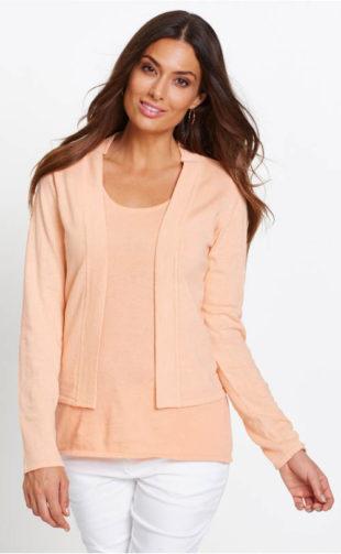 Twinset hedvábný svetr a top