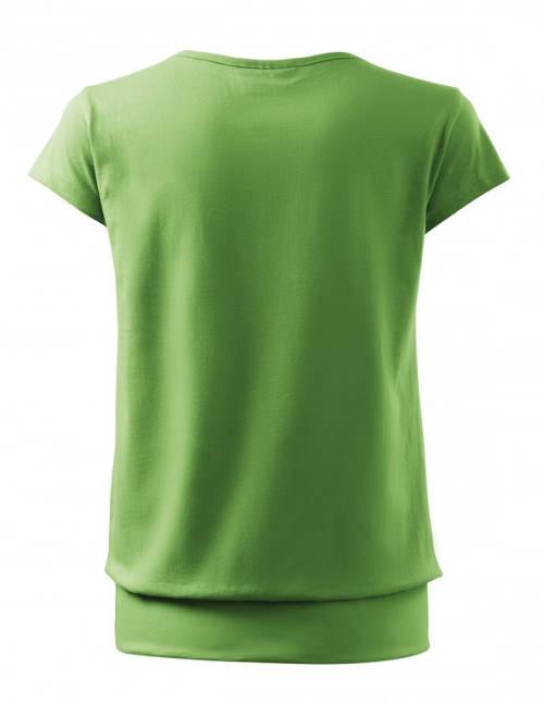Zelené těhotenské tričko s krátkým rukávem