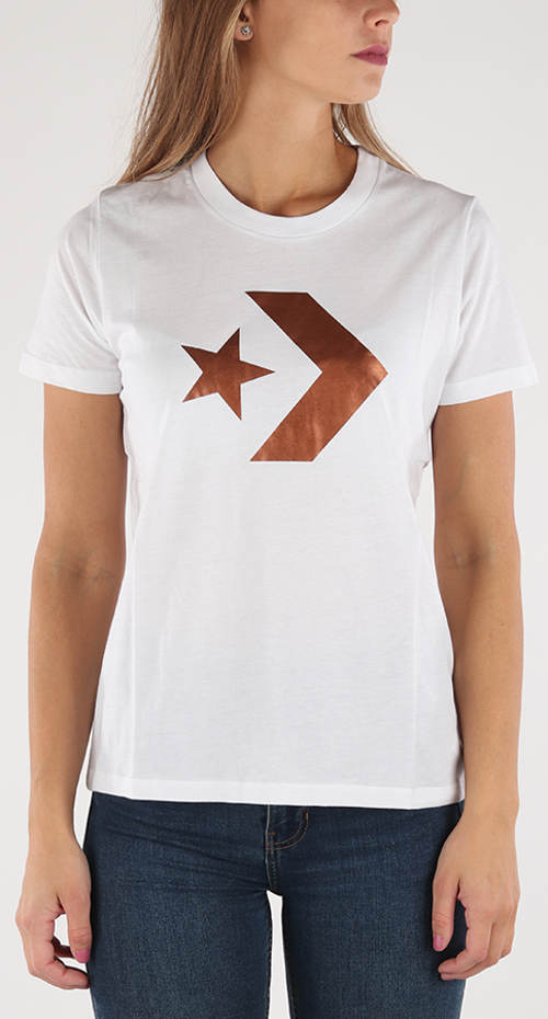 Bílo-zlaté dámské tričko Converse