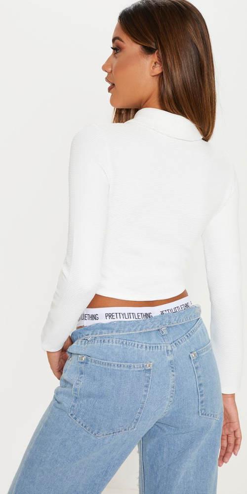 Bílý dámský sportovní top