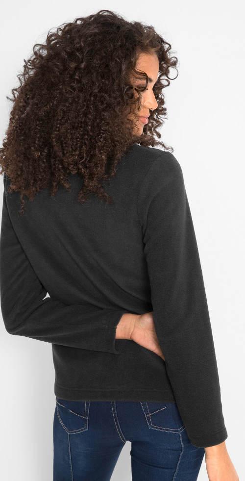 Černé dámské mikinové tričko
