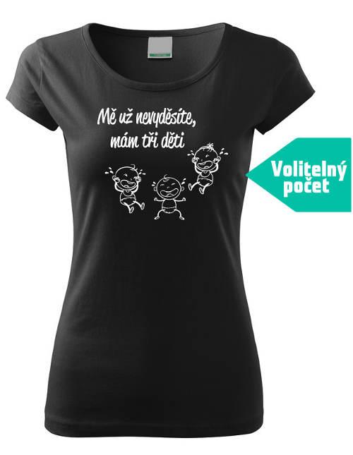 Černé dámské vtipné tričko