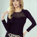 Dámské černé elegantní tričko Sabrina