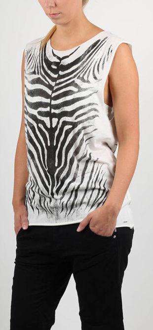 Dámské tílko zebra