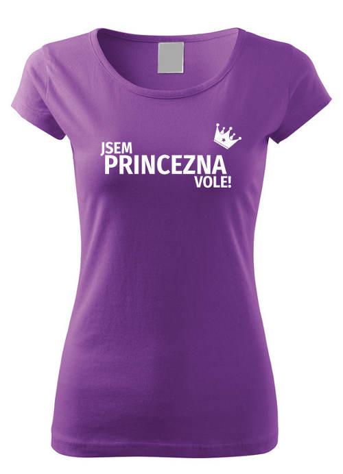 Fialové dámské vtipné tričko