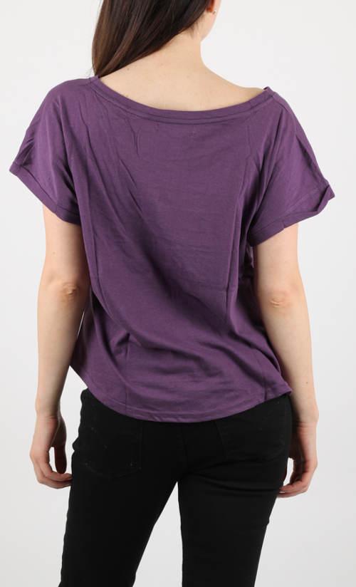 Fialové letní triko s krátkým rukávem