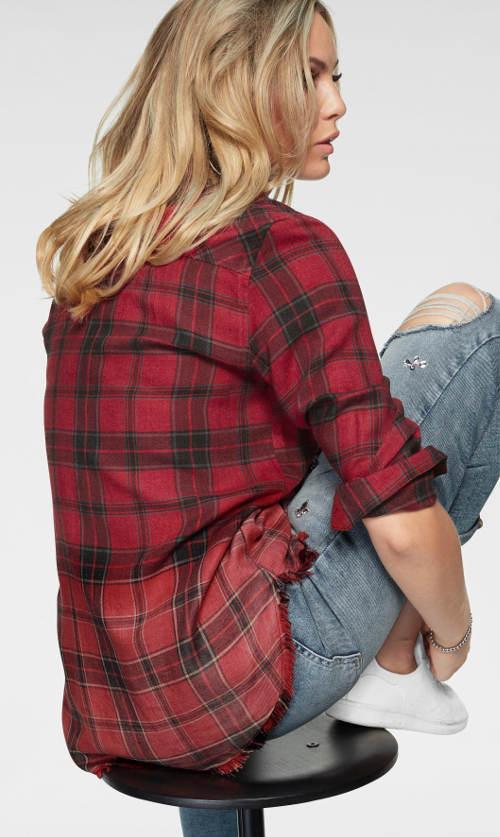 Karovaná červená dámská košile