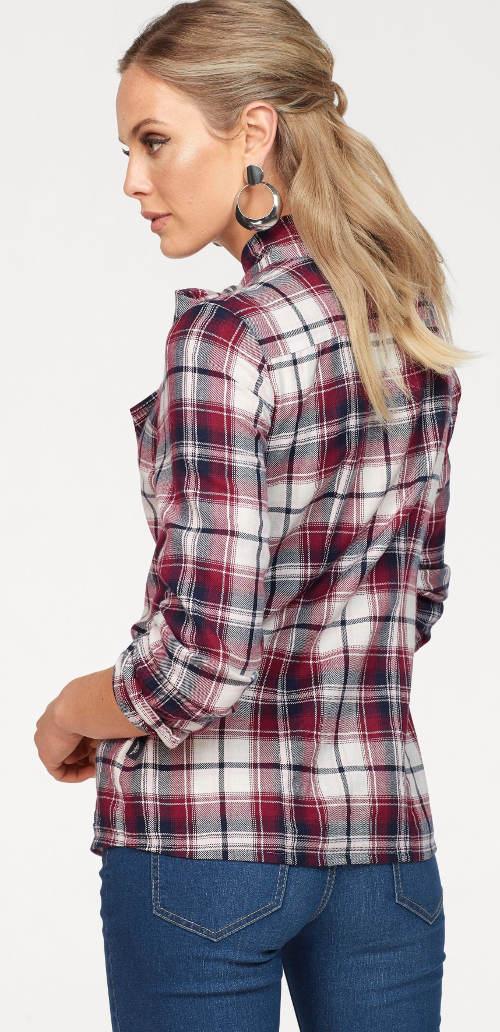 Kostkovaná košilová dámská halenka
