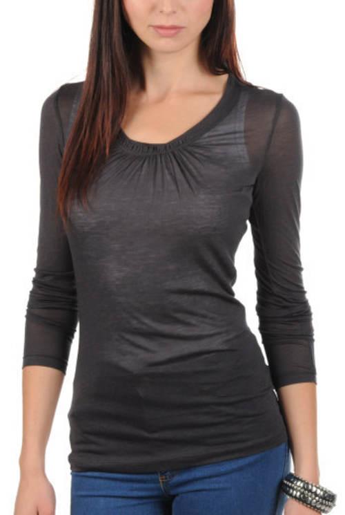 Lehké průsvitné dámské tričko