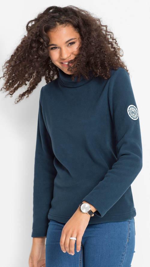 Modré teplé zimní triko