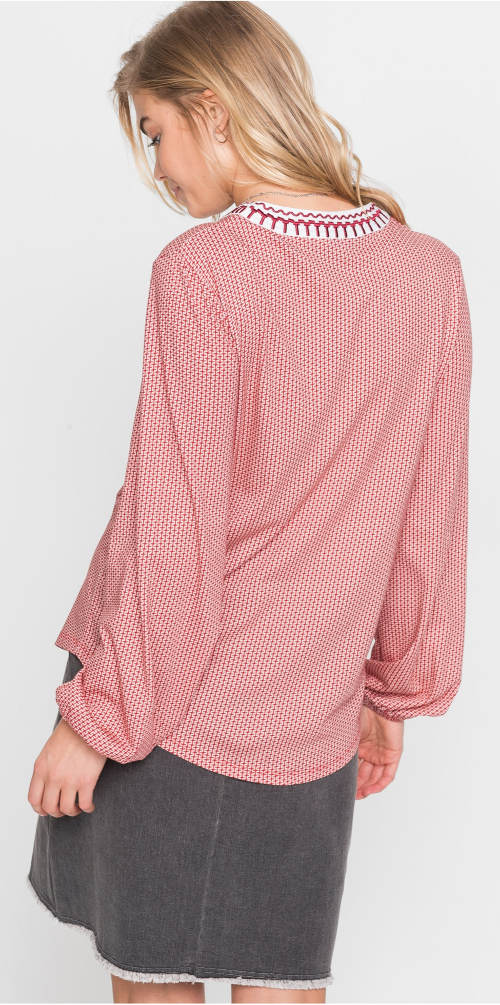 Růžová dámská tunika k sukni