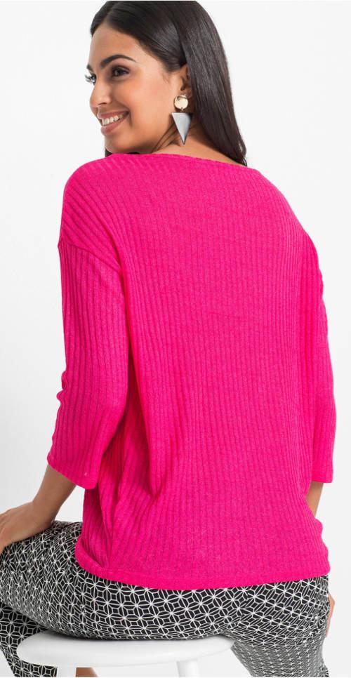 Růžové dámské úpletové tričko