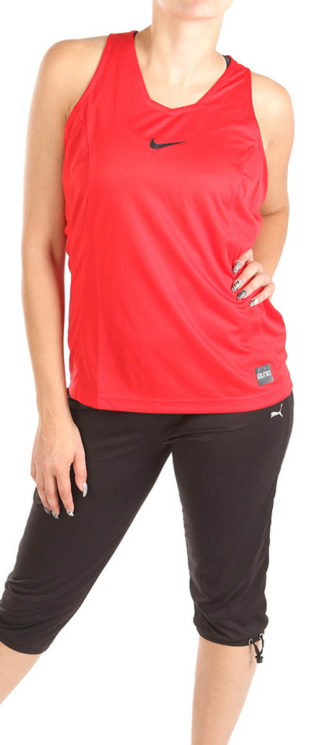 Červené sportovní dámské tílko Nike