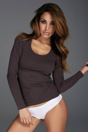 Dámské bavlněné tričko s dlouhým rukávem