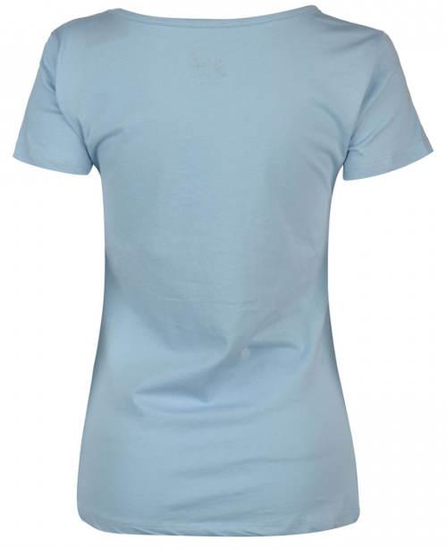 Modré dámské triko s krátkým rukávem