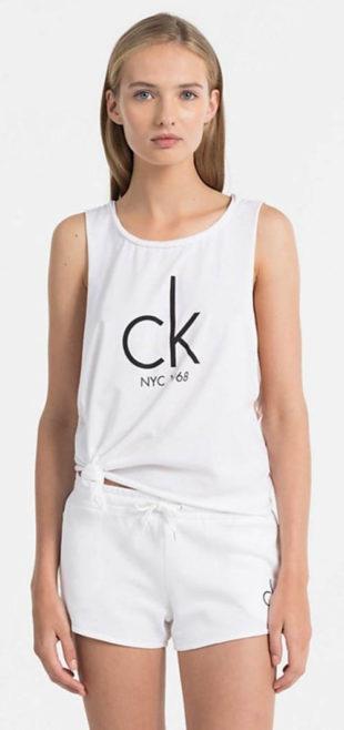 Bílé dámské tílko Calvin Klein