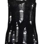 Dámská hačkovaná vesta s dírami