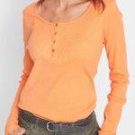 Levné dámské tričko s dlouhým rukávem