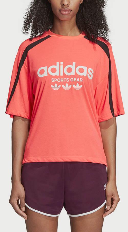 Růžové sportovní dámské tričko adidas Originals