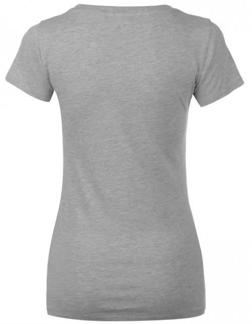 Šedé dámské tričko Lee Cooper s krátkým rukávem