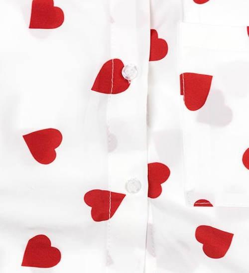 Srdíčková dámská košile
