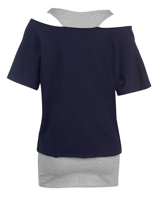 Dámské tričko s tílkem 2v1