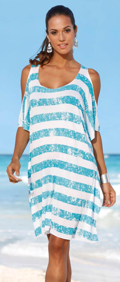 Letní prodloužené námořnické tričko k moři