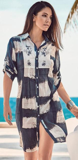 Propínací košilové plážové šaty