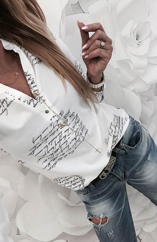 Trendy blůzka k džínám