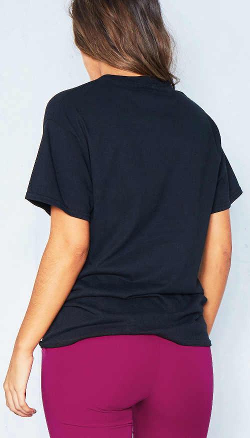 Mladistvé dámské tričko se sloganem