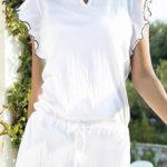 Bílé letní bavlněné šaty Santorini