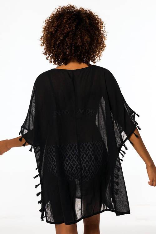 Černé plážové šaty Dorina Cebu