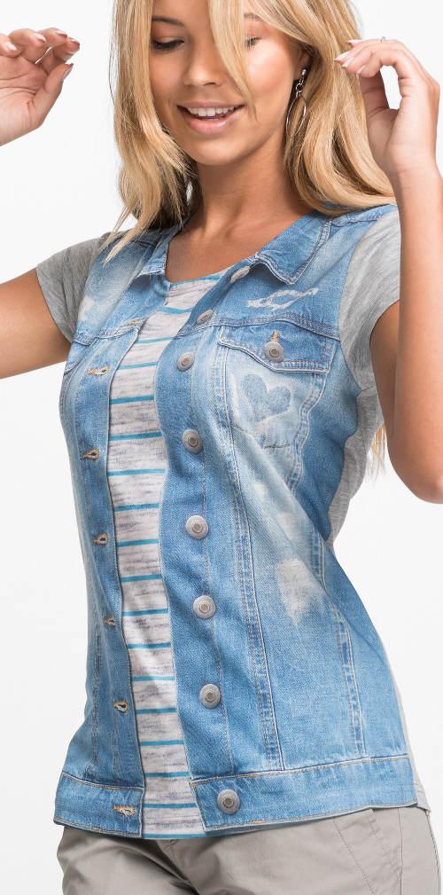 Dámské tričko s potiskem vesty