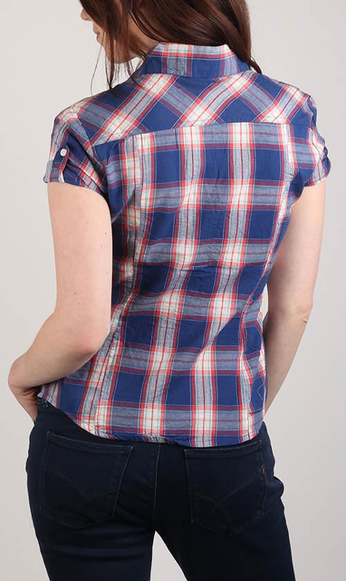 Kostkovaná dámská košile s krátkým rukávem