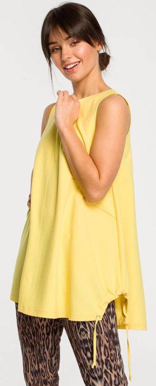 Volný žlutý letní top bez rukávů
