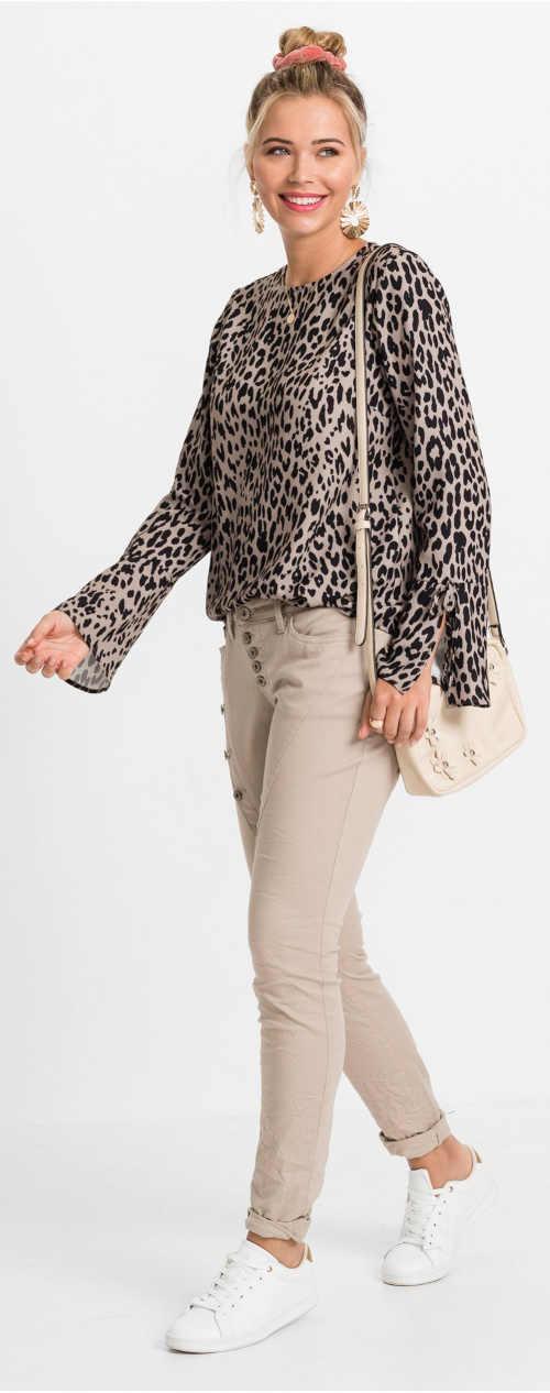 Dámský trendy top Leopard