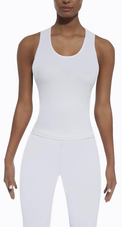 Bílé funkční tričko do fitka