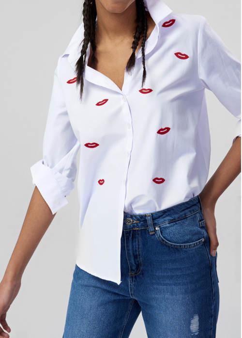 Dámská košile s pusinkami