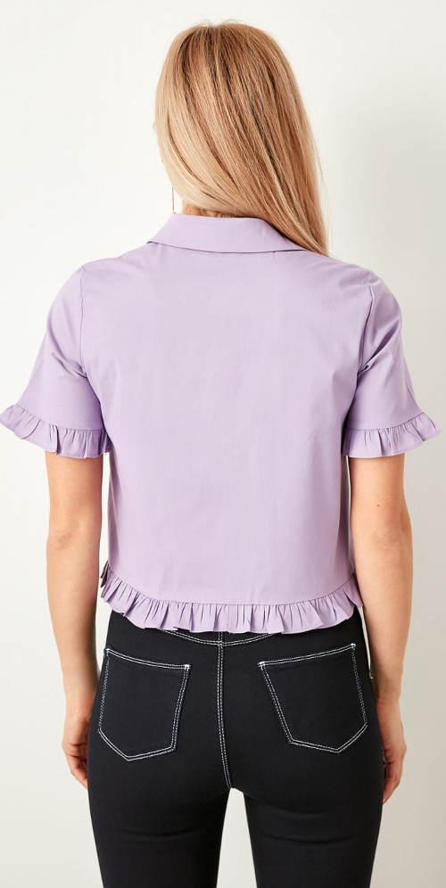 Dámská společenská košile s volánky