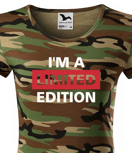 Dámské army tričko s nápisy