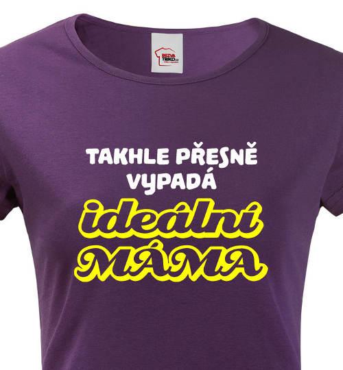 Fialové tričko s nápisy pro maminku
