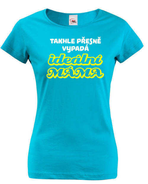 Modré dámské tričko Ideální máma