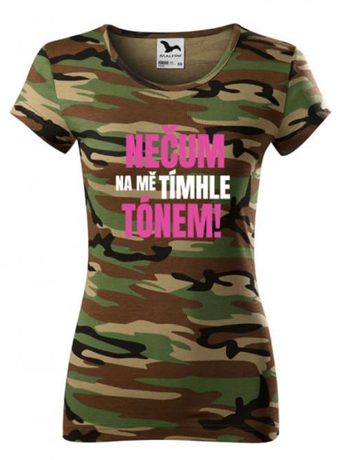Vtipné maskáčové dámské tričko