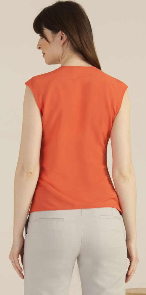 Oranžové společenské tílko
